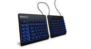 The KinesisGaming Freestyle Edge Split Gaming Keyboard is split in two and separated by a 20-inch, braided cord.
