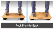 The air pressure in the rubber support feet can also be adjusted - firmer pressure provides more movement while softer pressure allows for gentler rocking.