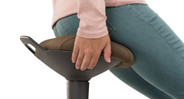 Take a load off your feet by perching on this active stool