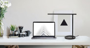 The E3 can sit comfortably on any desktop surface, and the lamp head may be angled up to 175 degrees.