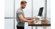 Build your UPLIFT V2 Adjustable Height Desk to suit your needs (pheasantwood solid wood desktop shown here)