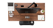 Furnish your desk with accessories for better organization (walnut solid wood top shown here)
