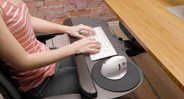 Positioning your keyboard lower to your lap keeps your elbows at a 90-degree angle, increasing overall comfort