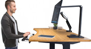 The UPLIFT Desk designers built Keyboard Tray System to adjust to fit your needs for ideal ergonomics