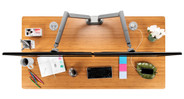 Quickly attach the Zilker Dual Monitor Arm by UPLIFT Desk to your desktop surface