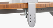"The included clamp mount can be installed on desks with a thickness between 0.75"" - 3.75"""