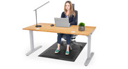 A chair mat that doubles as an anti-fatigue mat