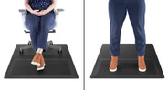 Simply shift between sitting and standing while using the Chair Mat with Standing Cushion
