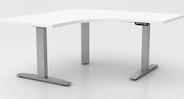 Humanscale eFloat Flex Standing Desk Frame for 90/120 Degree Top - 3-leg