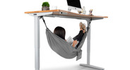 When it's time to kick back just hop into your Under Desk Hammock