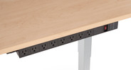 The included 3-prong grounded plug with heavy-duty 15' power cord makes it easy to move your height-adjustable desk up and down