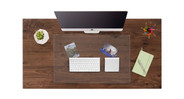 A glass desktop cover—without the cost of a full glass cover