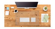 Glass blotter protects your desk from scratches