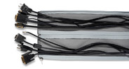 Combine two or more Zipped Cable Sleeves to manage larger bundles of cables