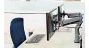 Exceptional pivot range at base, elbow, and monitor tilter offers a wide range of viewing angles