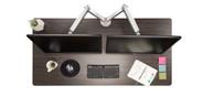 "60"" x 30"" ash gray GREENGUARD-certified laminate desktop"
