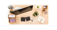 "60"" x 30"" maple GREENGUARD-certified laminate desktop"