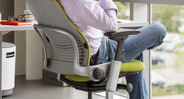 The Leap's progressive back slat system improves chair airflow and reduces hot moments in the chair
