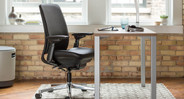 This surprisingly durable chair provides ergonomic seating to users weighing up to 400 lbs