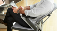 As you recline, the Gesture's arms tilt and adjust to meet you