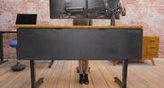 Have the clean and copacetic desk of dreams with the UPLIFT Desk Modesty Panel & Cable Management