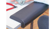 Easily and solidly attaches to desk edge using a strip of Velcro