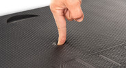 "The 0.75""-thick mat takes pressure off your joints, hips, and back"