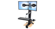 The WorkFit-S Sit-Stand Workstation attaches to most desktops quickly and easily