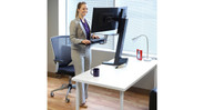 The Ergotron WorkFit-S Sit-Stand Workstation comes with a 5 year warranty