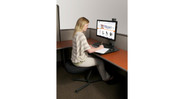 Bolt-through and clamp-on mount options can be mounted to most existing fixed-height desks