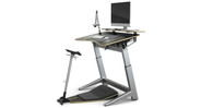 "Height and angle adjustment allow desk to support users ranging from 4'11"" to 6'8"""
