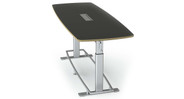 Conference table can be purchased as a bundle with 6 or 8 Focal Mobis Stools to enhance the sit-stand experience