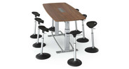 Perfect for conference rooms, boardrooms, brainstorming environments, individual, or shared workstations