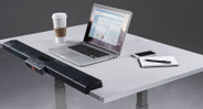 Includes foam-injected padded armrests for support and cable management tray