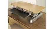 The Life Fitness InMovement Elevate Desktop DT2 Standing Desk comes fully assembled
