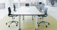 The polypropylene shell flexes with users to accommodate different sitting styles