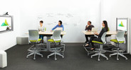 Furnish your space with flexible and intuitive ergonomic seating with the Cobi Drafting Stool