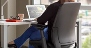 Easily adjust the tilt tension control and lumbar support