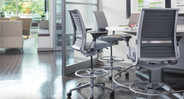 You'll have the extra height you need for a wide variety of tasks with the Think Drafting Stool