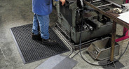 Raised pattern on surface improve traction and minimize slips and falls