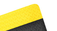 Available in all black, black with yellow borders on long sides, or black with yellow borders on four sides
