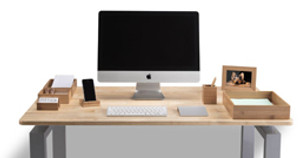 Some Peace of Mind: the Bamboo Desk Organizer Set Brings Organizing Zen to Hectic Workspaces