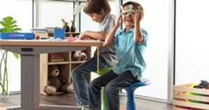 Permission to Fidget: Wobble, Tilt, and Sit Comfortably on the Kids Active Stool by UPLIFT Desk