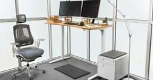 Get Your Complete Desk Quicker Than Ever with Our Pre-Configured Standing Desks + Accessories Page