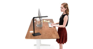 Bouncing for Joy: The Rubberwood Solid Wood Sit-Stand Desk by UPLIFT