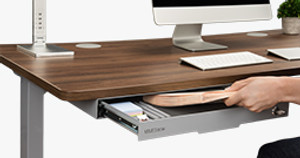 Storage Just Got Skinnier with the Slim Under Desk Storage Drawer