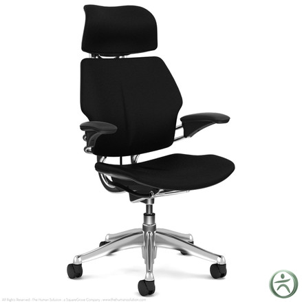Shop Humanscale Leather Freedom Chairs - Polished Aluminum