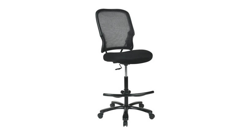 Thick padded contour seat and air grid back