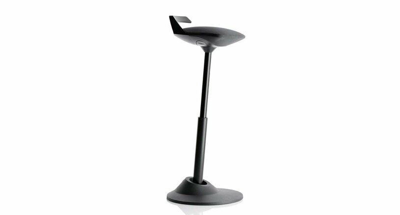Save money on your ergonomic stool with the Muvman Sit-Stand Stool Open Box Clearance (black model only)