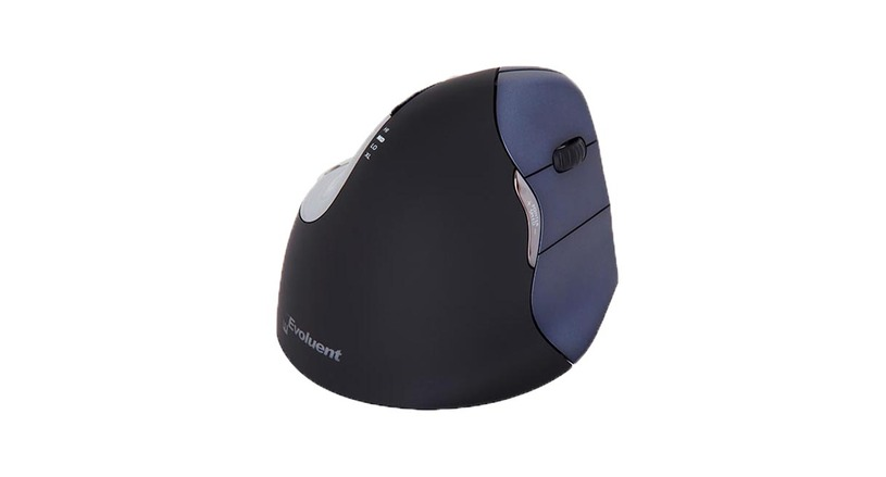 Six programmable buttons give users more versatility with the Evoluent Vertical Mouse 4 Right Hand Wireless Mouse